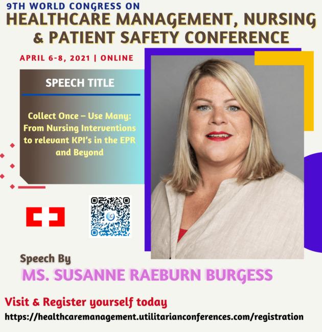Mrs. Susanne Raeburn-Burgess_Healthcare Management, Nursing and Patient Safety Conference April 6-8, 2021