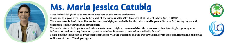 Ms. Maria Jessica Catubig_Nursing, Healthcare Management and Patient Safety UCGConferences